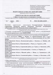 Свидетельство аккредитации - вет. надзор (Страница 1)